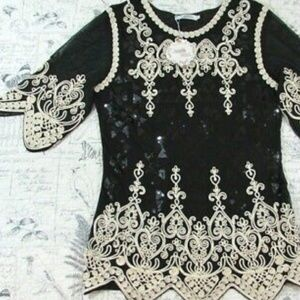 Simply Couture Romantically Inspired Evening Tunic